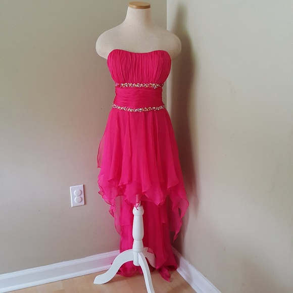 Cache Dresses & Skirts - Cache 10 NWT New Neon Pink Prom Dress Gown
